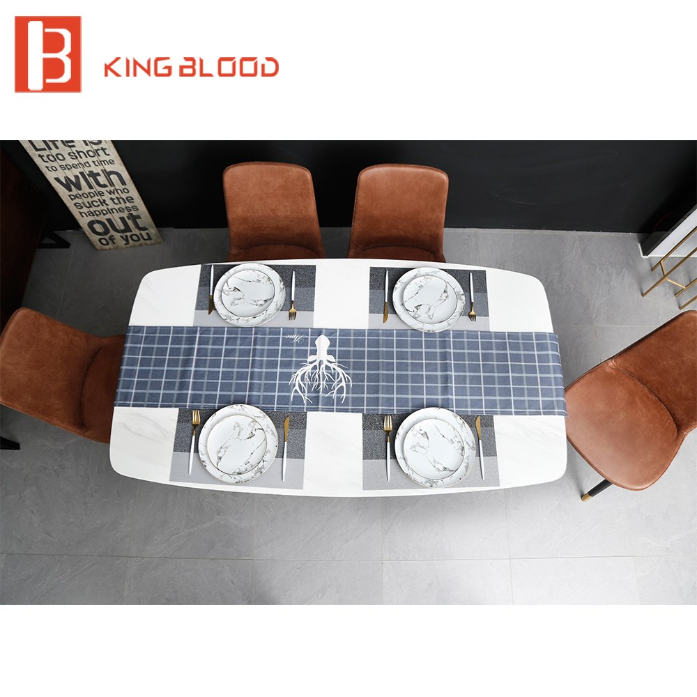 Simple style  dining room furniture marble dining table set