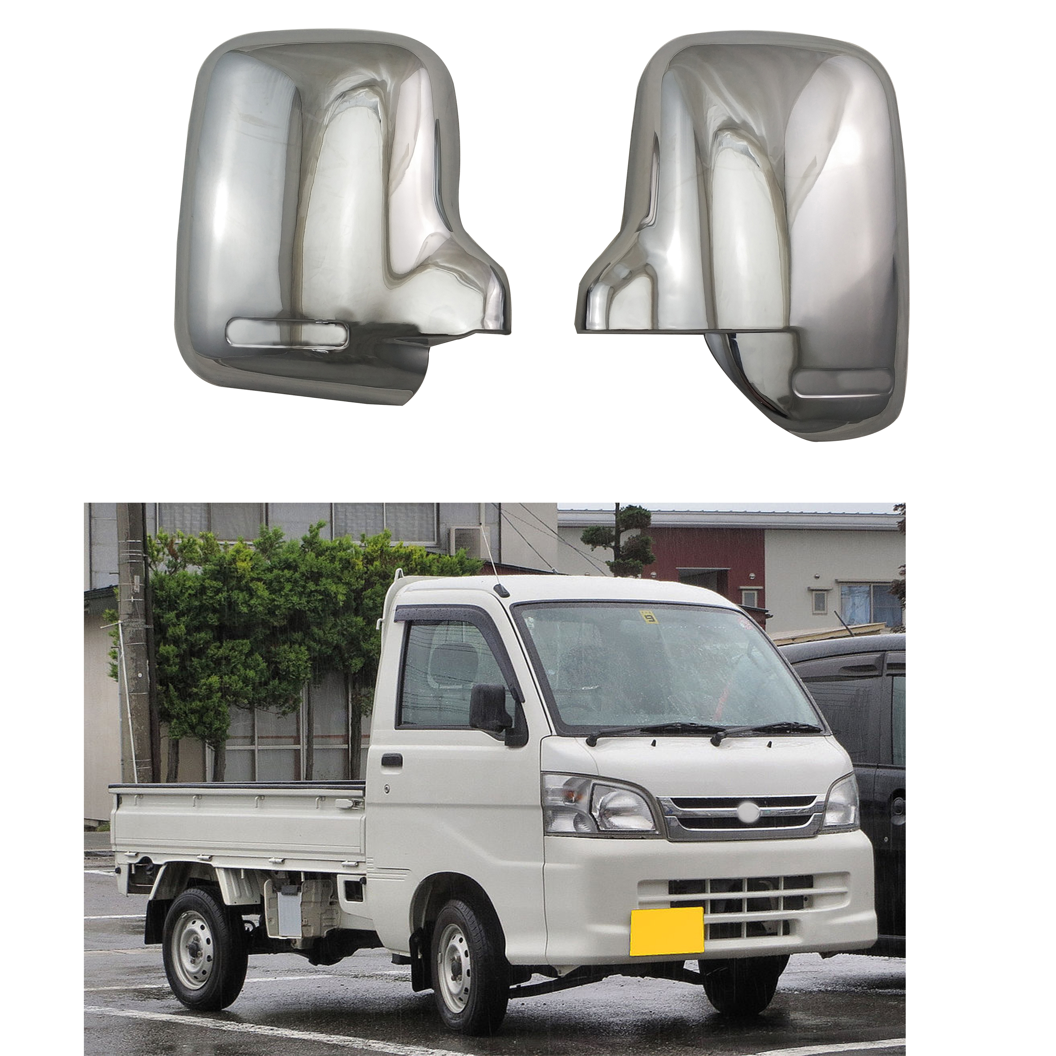For Daihatsu Hijet S100, S110, S120, S130 2007-2014 Novel style 2PCS ABS Chrome plated Rear view door mirror cover Auto supplies