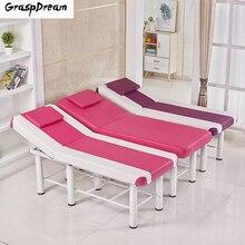 Модные стабильные профессиональные СПА массажные столы Складная салонная мебель PU кровать Толстая красота массаж тату стол