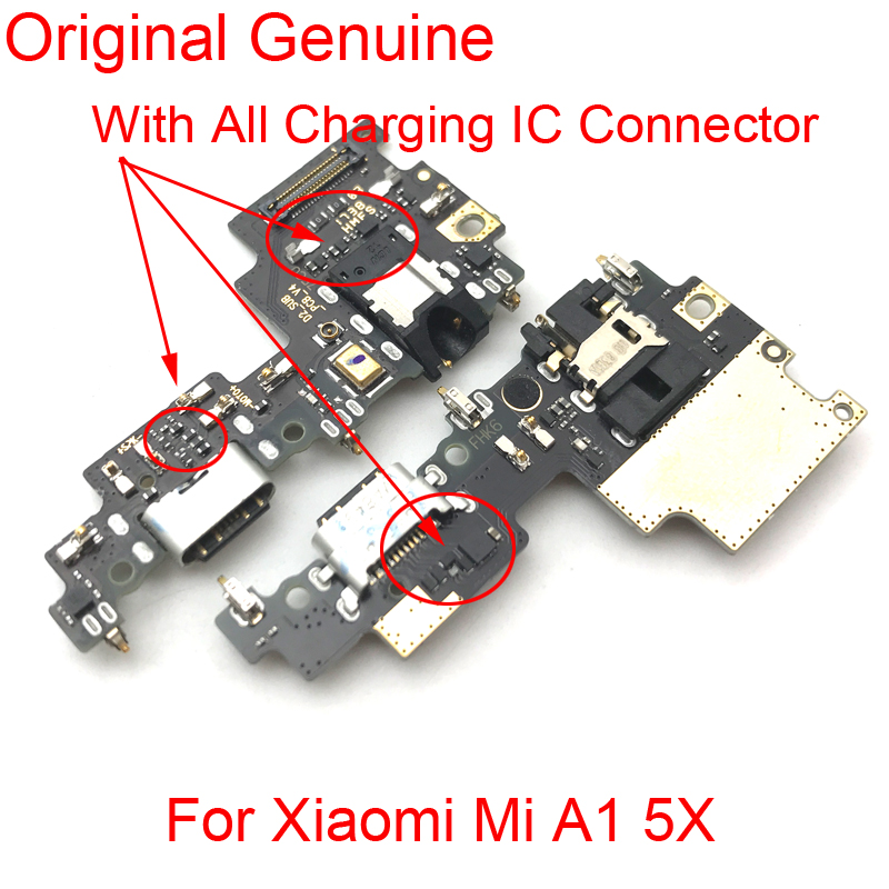 New For Xiaomi Mi A1 5X Mi5X USB Charging Charger Port Dock Connector PCB Board Flex Cable Ribbon With Auto Jack Earphone