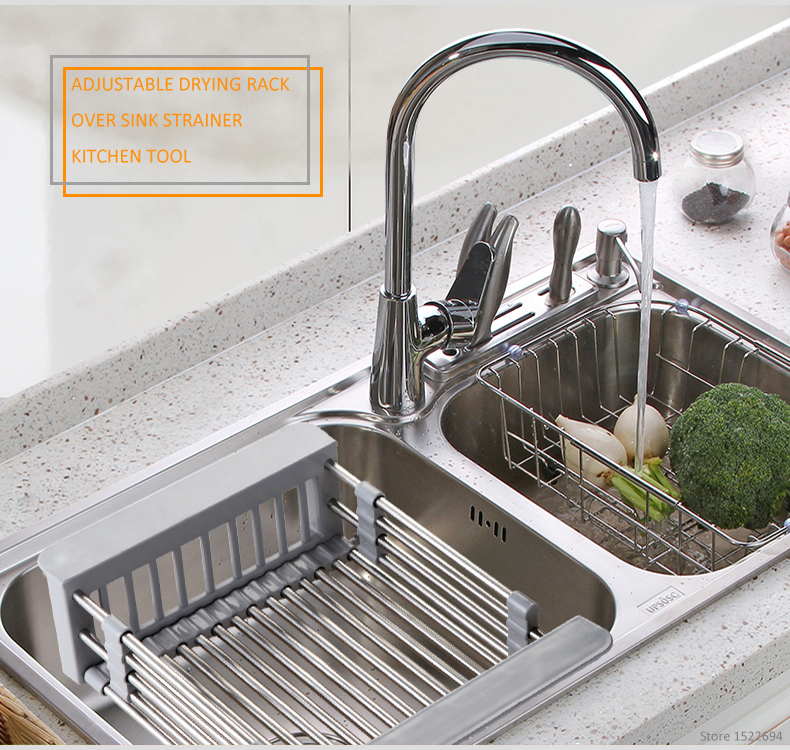 Over The Sink Dish Drying Rack.Adjustable Over The Sink Colander Dry Rack Pro Kitchen Sink Dish Drainer Rack Collapsible Over Sink Dish Drainer Color Option