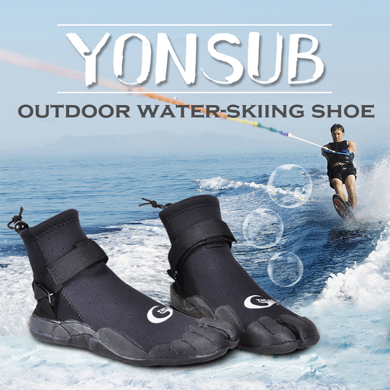 3MM Man&Woman Rubber Diving Boots Anti-slip Quick-drying Surf Shoes Snorkeling Wading Water Skin Shoes Black YZ005 shanghai kuaiqin kq 5 multifunctional shoes dryer w deodorization sterilization drying warmth