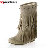 Casual Tassel Snow Boots 2017 New Listed Fashion Comfortable Flat Women Ankle Boots With High Quality