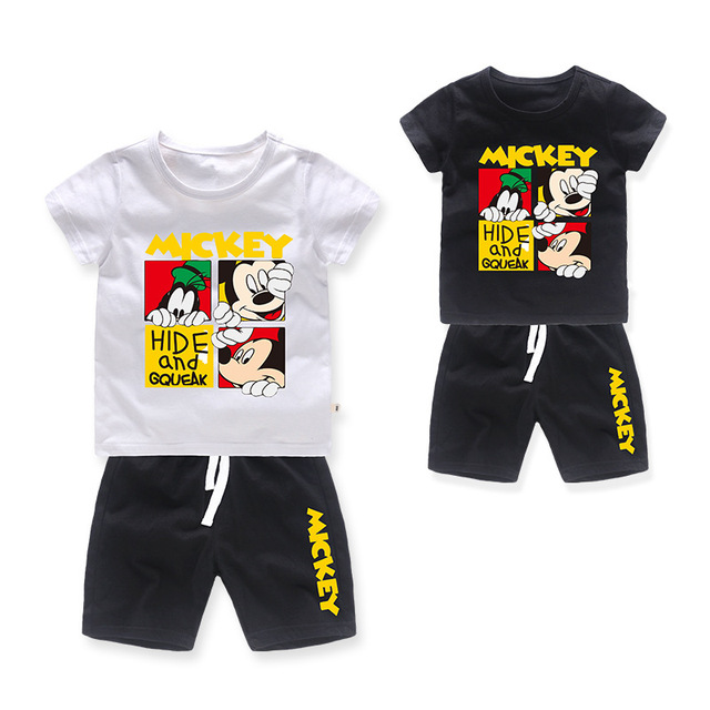 d4e757ee8ad6 Baby Mickey Mouse T Shirt + Shorts Sets Boys Cartoon Sport Suits Children  cotton summer Sets Kids multiple colour clothes 2 8Y -in Clothing Sets from  Mother ...