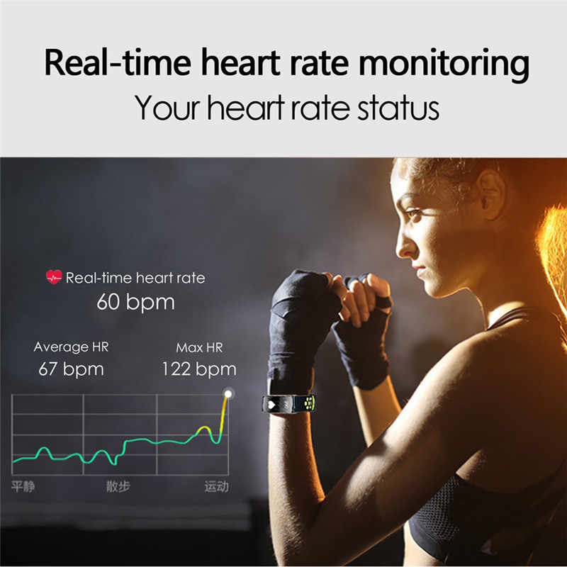 Smart IP68 водонепроницаемый fit смарт-браслет Heart rate группа бит Фитнес трекер умный Браслет Носимых устройств часы PK S2 mi 3