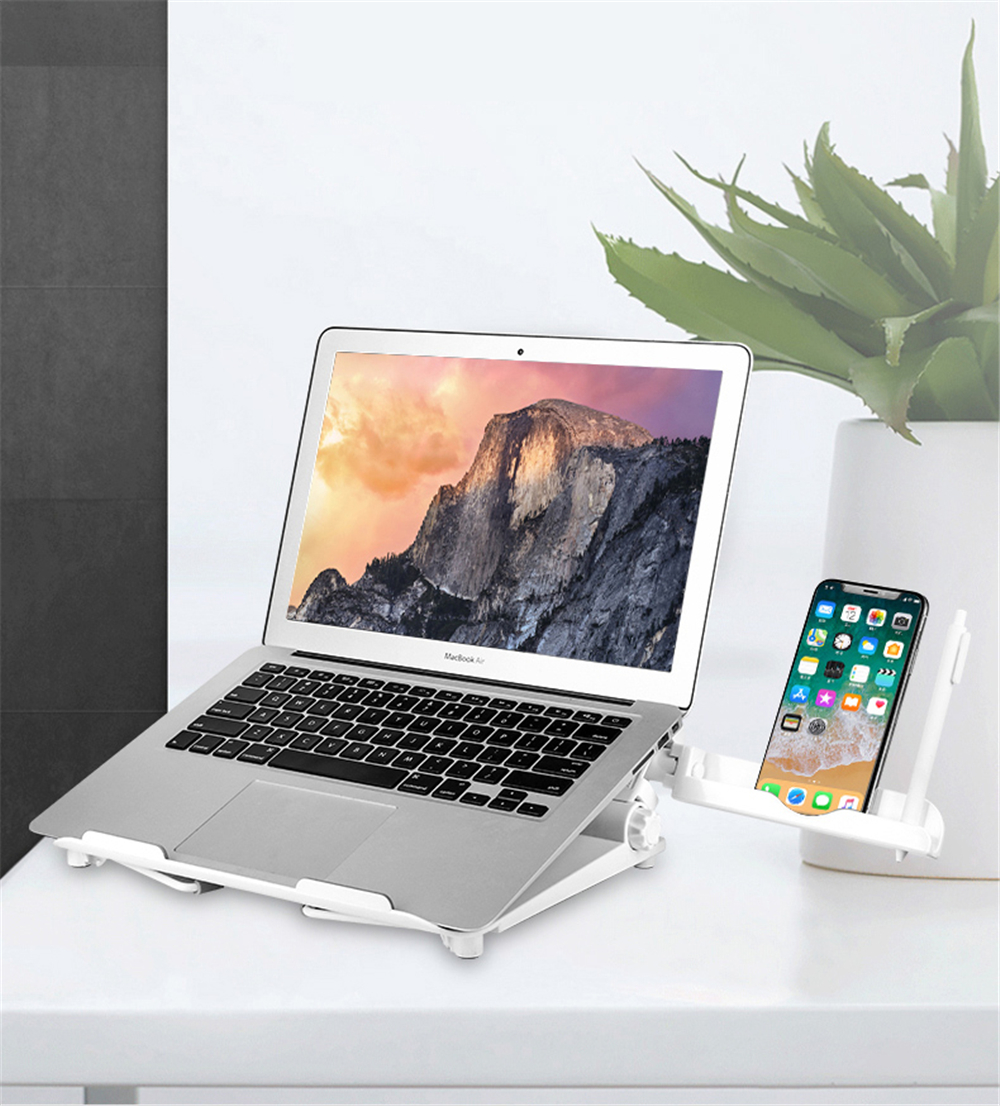 Silver DISS Aluminum Portable Foldable Laptop Support Stand for Laptops up to 15 Inches