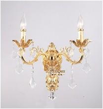 Classical Wall Lamp Vintage Crystal Light Brass Color Sconces Bronze Deco Penteadeira Brackets Bedroom