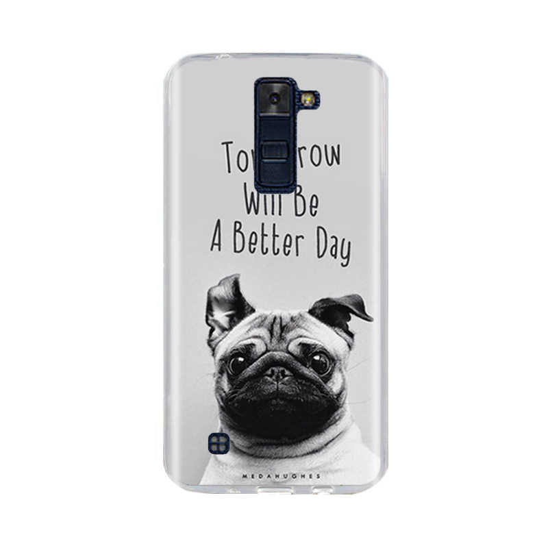 ل LG K7 K8 Lte حالة الغطاء الخلفي لينة سيليكون TPU Fundas كوكه ل LG k7 K8 الهاتف حالات 3D لطيف الحيوان ل LG K10 2016 2017 حقيبة