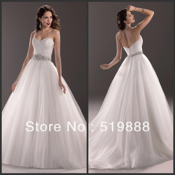 134ab0a3056 Free Shipping Hot Sale Off Shoulder Crystal Beaded Flying Ball Gown  Kleinfeld Wedding Dresses