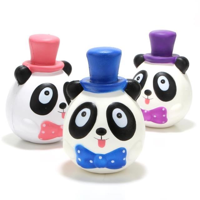 Jumbo Gentleman Panda with Hat Charms Squishy Slow Rising