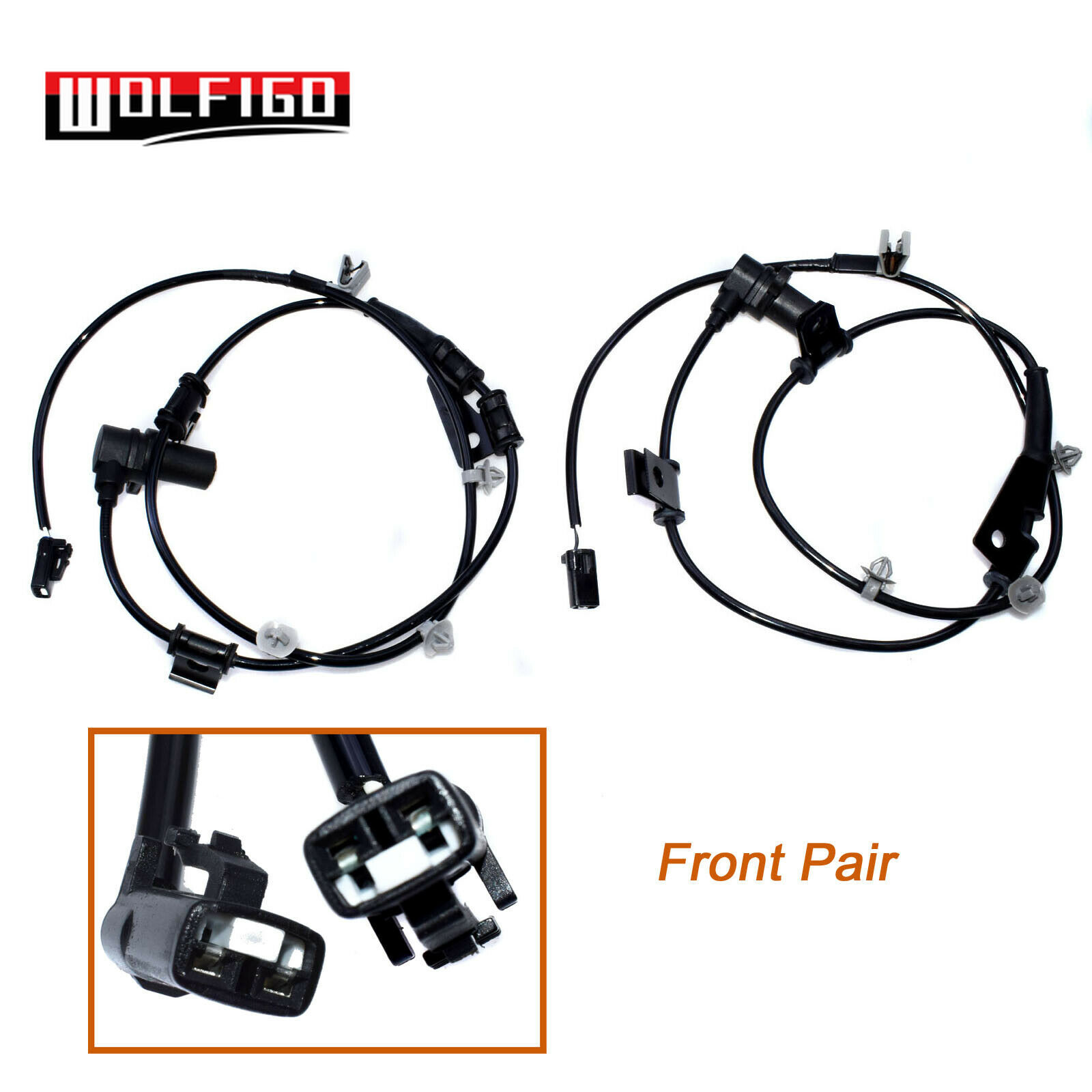 2 Pieces ABS Speed Sensors for Hyundai Santa Fe 2001-2006 Front Left and Right