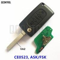 QCONTROL 3BT Từ Xa Lật Key cho PEUGEOT 807 407 308 307 207 CC SW Expert Partner Khóa Cửa Tự Động (CE0523 ASK/FSK, VA2)