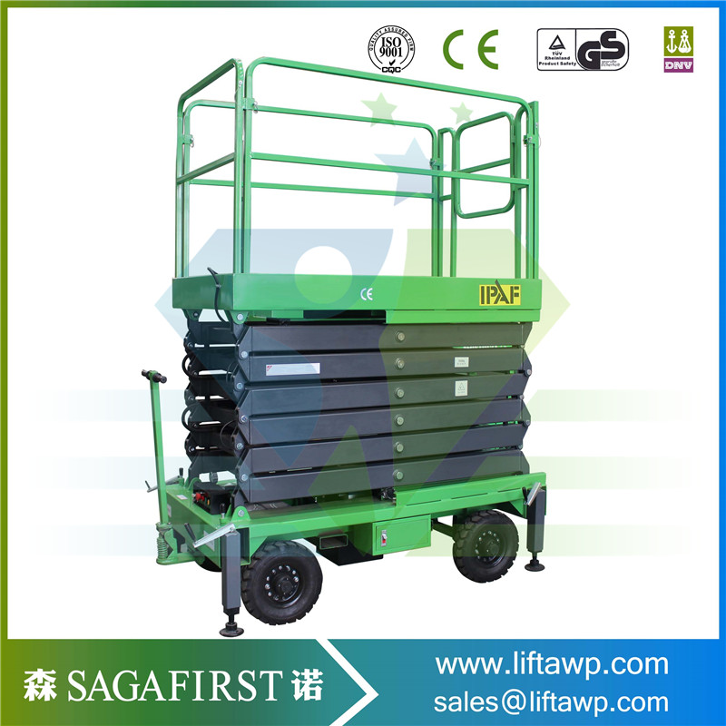 16m Indoor Hydraulic Lifter Price Mobile Scissor Lift Machine With CE