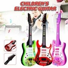 4 струны музыкальная электрогитара детские музыкальные инструменты Развивающие игрушки для детей Juguetes как подарок на год