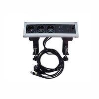 5 шт. подвижный треугольники Desktop фиксированная розетка 3 ЕС Мощность Розетки + 2 USB зарядное устройство порты 1 HDMI 3,5 аудио конфигурации настро