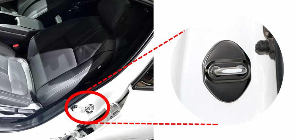 FLYJ 4PCS רכב דלת מנעול אבזם כיסוי רכב אביזרי פנים מנעול דלת כיסוי מגן עבור הונדה RS FIT HRV סיוויק ירקן ג 'אז GK5