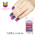 New Designs Special French Matte Nail Art Tips with black and rose color