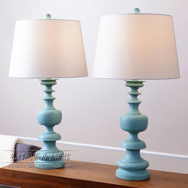 Простой исследование настольная лампа творческий семейных детских прикроватная тумбочка для спальни Гостиная украшения синий/желтый Смол...