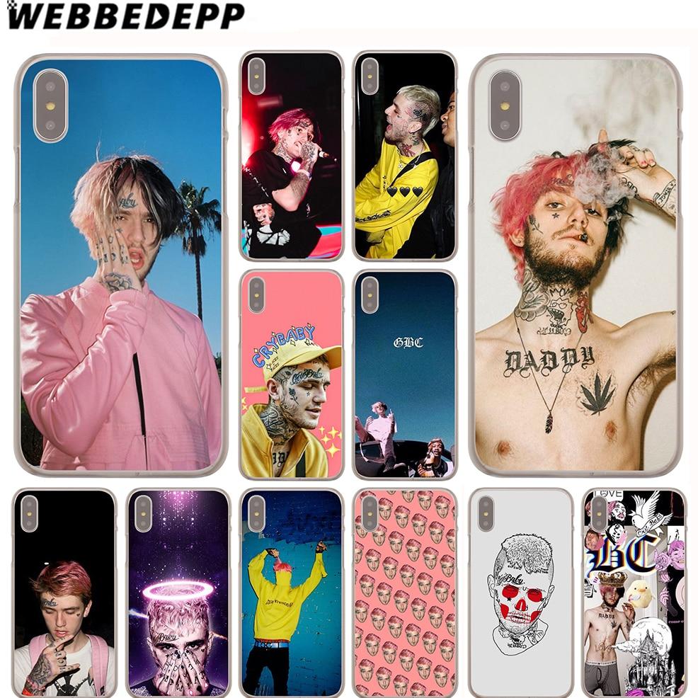 WEBBEDEPP Lil Peep Case for iPhone X or 10 8 7 6 6S Plus 5 5S SE 5C 4 4S