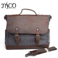 Men's Business Shoulder Bag Casual Travel Handbag Waterproof Military Male Messenger Bags England Style Brand Laptop Bag 14 inch