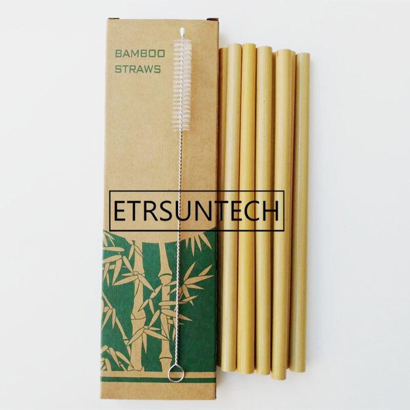 30 sets Bamboe Rietjes Sets Herbruikbare Eco Vriendelijke Handgemaakte Natuurlijke Bamboe Rietjes en Reinigingsborstel-in Drinkrietjes van Huis & Tuin op  Groep 1