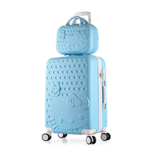 cfb231fe3098 girls Hello Kitty suitcase cute luggage set series 20 24 inch child trolley suitcase  travel bag