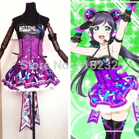 Love Live School Idol Project Cyber Video Games Nozomi Tojo Light Up Slip Dress Tee Dress Uniform Outfit Anime Cosplay Costumes love live school idol project cyber video games ayase eli light up slip dress tee dress uniform outfit anime cosplay costumes