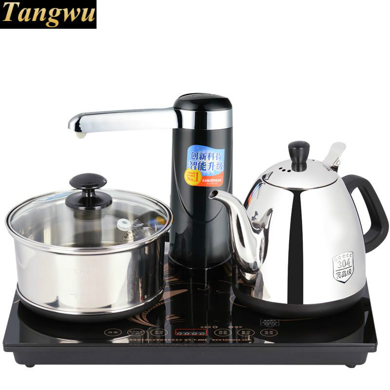 Automatic water electric kettle plus heater tea intelligent furnace free shipping automatic water supply electric kettle tea set pumping furnace