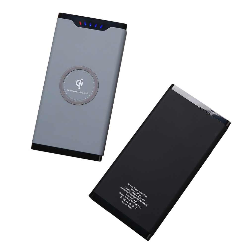 Portable Qi Wireless Charger Power Bank For Samsung iPhone Xiaomi mi 9 10000mA External Battery Fast Wireless Charging Powerbank