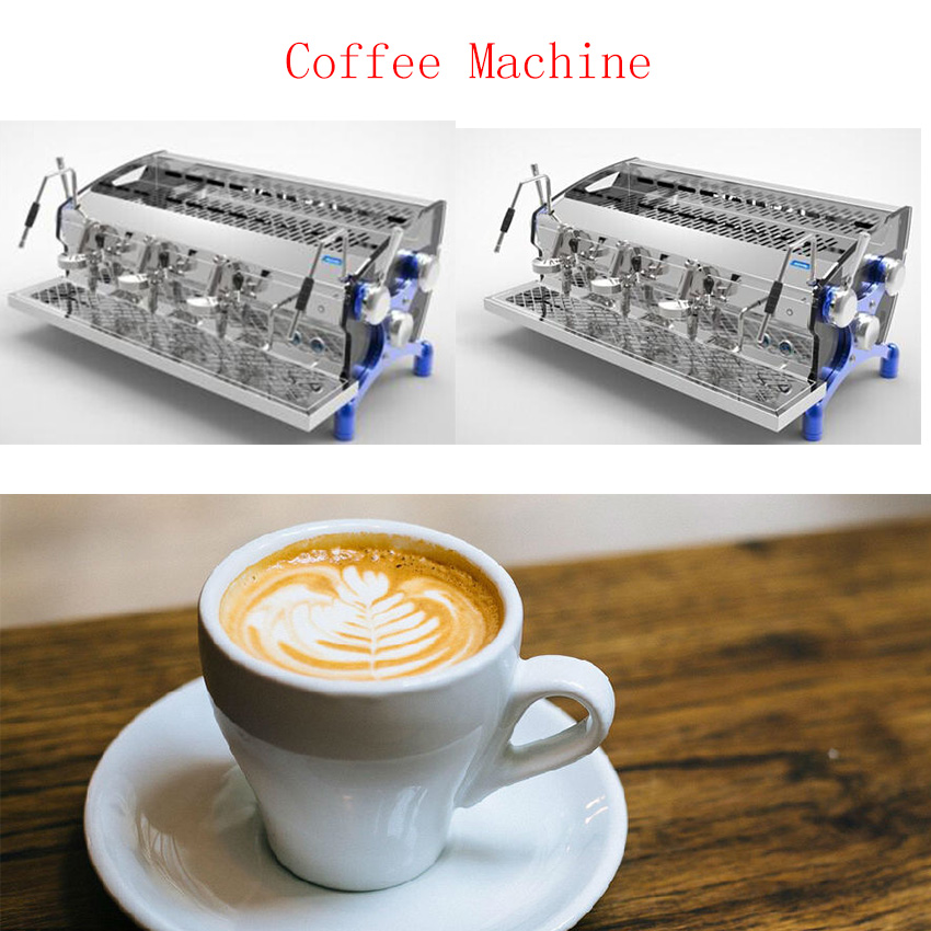 Free Shipping Italian Professional Commercial 3800W Stainless Steel Espresso Coffee Maker Machine
