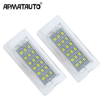 Apmatauto 2pcs White CANbus LED Number License Plate Light Lamp 18 SMD 3528 For BMW E53 X5 1999-2003 E83 X3 03-10 Error Free image