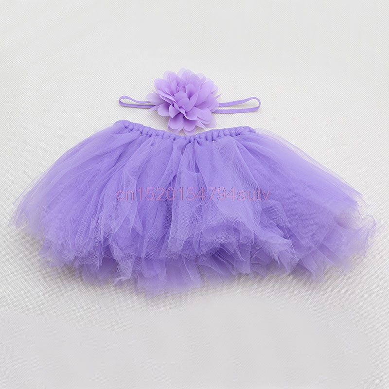 Baby-Tutu-Clothes-Skirt-Newborn-Headdress-Flower-Girls-Photo-Prop-Outfits-h055-5