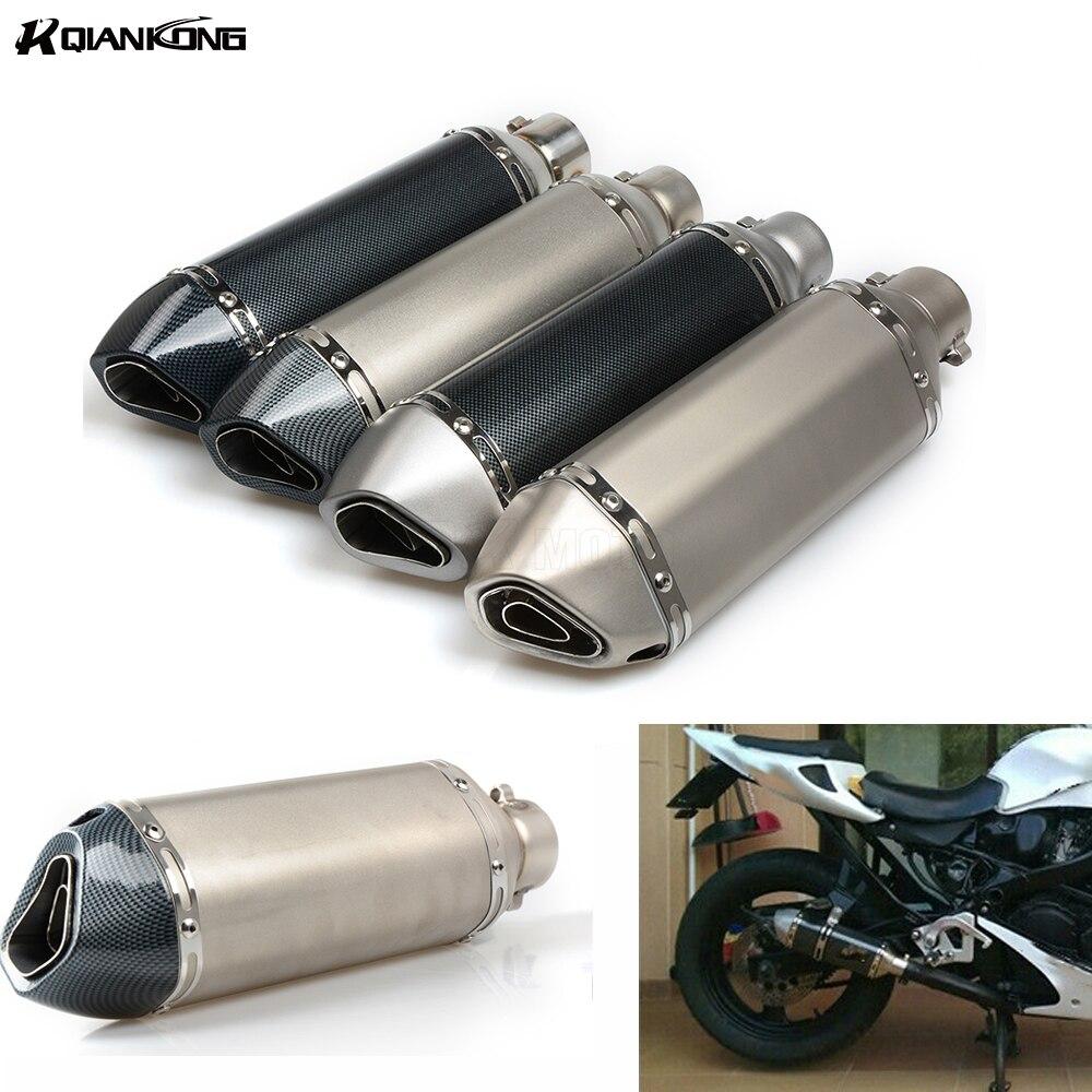 R QIANKONG 36-51MM Universal Modified Moto Exhaust Pipe Muffler for KAWASAKI ZX636R ZX6R ninja 250 300 650 Hyosung GT250R боковые зеркала и аксессуары для мотоцикла logas hyosung gt125r gt250r gt650r gt650s
