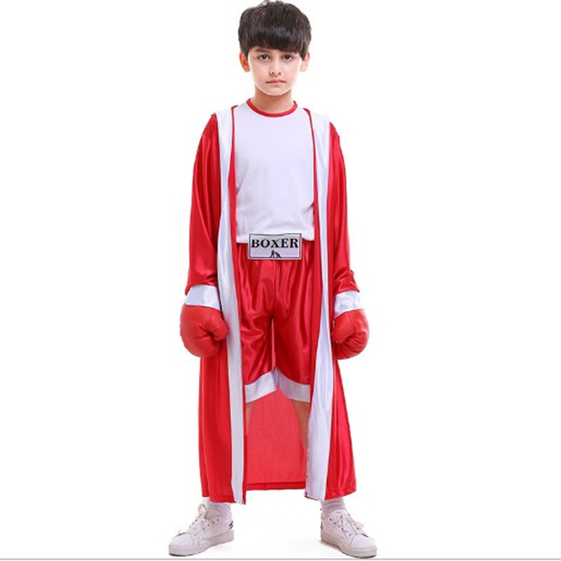 Halloween Christmas children's sportswear red and blue boxers children's boxing matches cosplay Costume Superior quality