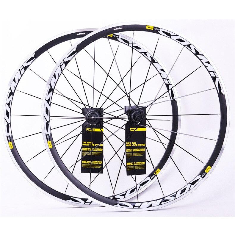 Vélo vélo roues 700C BMX route vélo roue V frein CNC en alliage d'aluminium route roues ensemble de roues de vélo