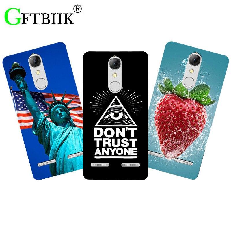 Fashion Cute Cartoon Phone Case For Lenovo K6 K 6 5.0 K33a48 K33 a48 b36 K33b36 Cover Animal Flower Flag Printing Back Shell