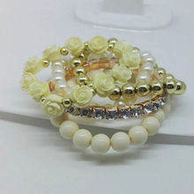 pronuvel New Fashion Love Imitation Pearl Strand Bracelets For Women Rose Bracelets&Bangles Pulseira Summer Jewelry AQH032(China)