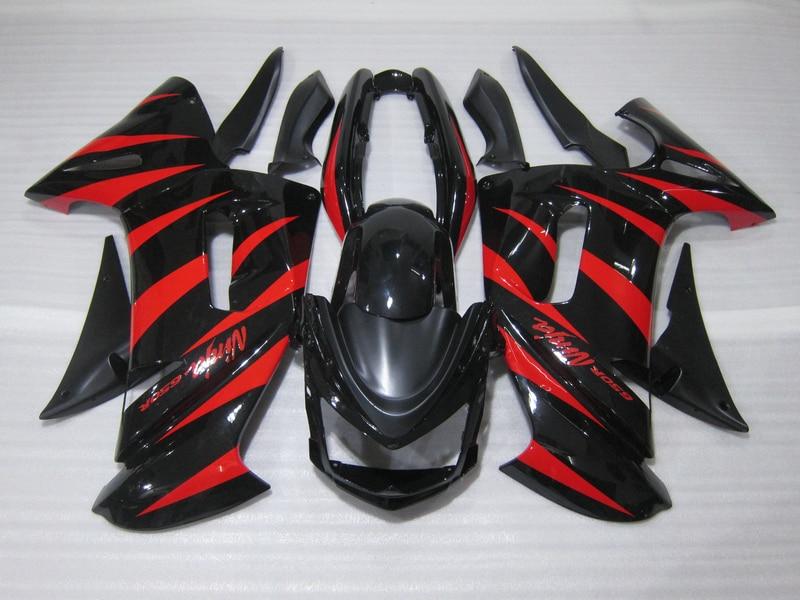 Бесплатная 7 подарки обтекатель комплект для Kawasaki Ninja 650R 06 07 08 красный черный обтекатели комплект 650R 2006 2007 2008 ow01