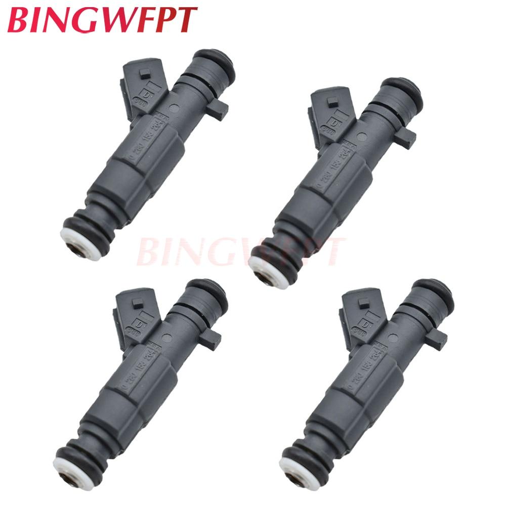 4PCS 0280 156 264 Fuel injectors nozzle For Chery TIGGO T11 QIYUN 0280156264