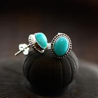 925 Silver Amazonite Stud   Earring   for Women Party Wedding S925 Sterling Silver   Earrings     Fine   Jewelry LE93