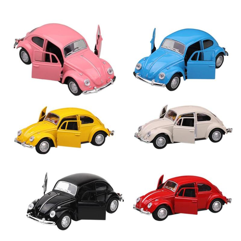 Alloy Emulated Car Boy Model Car Toy Curiosity Inspiring Cake Decor Child Vehicle Car Adorn with 6 Colors Children Birthday Gift