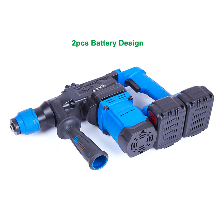 HTB1OGbWa6oIL1JjSZFyq6zFBpXay - 5000 10000mAh Heavy Wall Hammer Cordless Drill Rechargeable Lithium Battery Multifunctional Electric Hammer Impact Drill