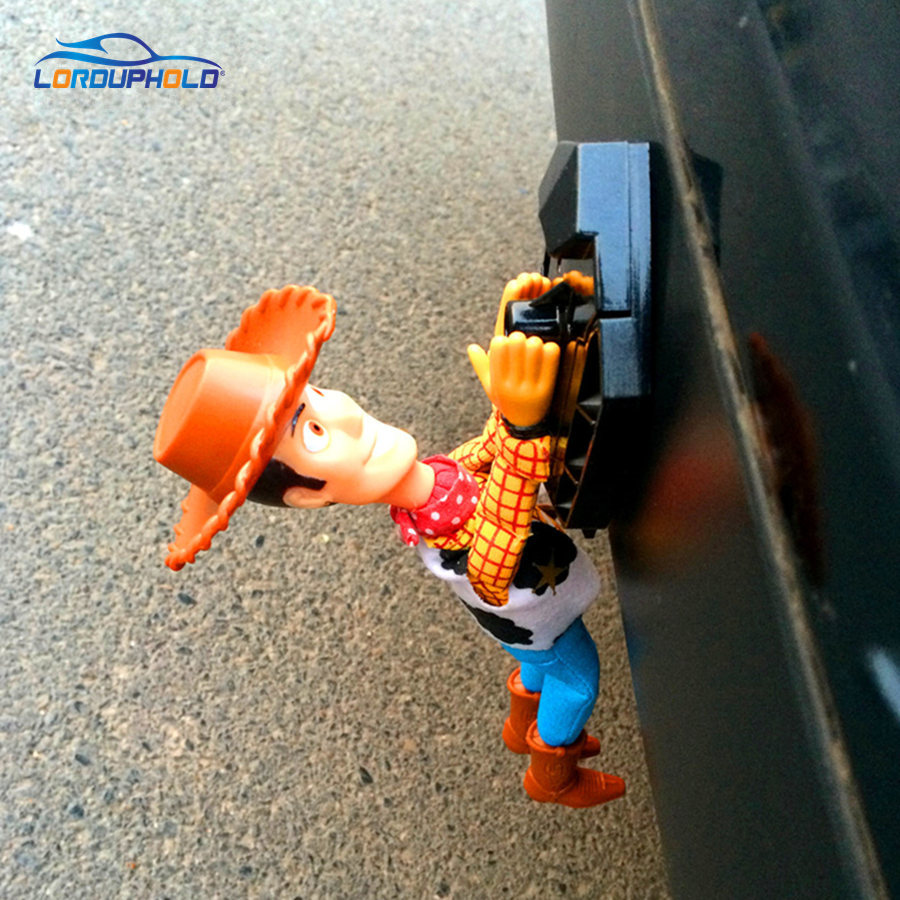MUSLIM Lucu Toy Story Lovely Sherif Woody Doll Kereta Di Luar Hang Toy Cute Muneca Aksesori Auto 20CM 30CM 40CM Hot Jual