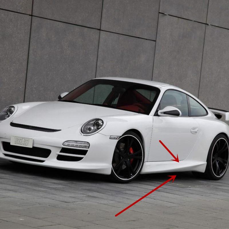 Pour 911 997 modifié Techart Style fibre de carbone côté corps Kit jupe latérale revêtement d'habillage voiture Style 2005 2006 2007 2008 2009 2010