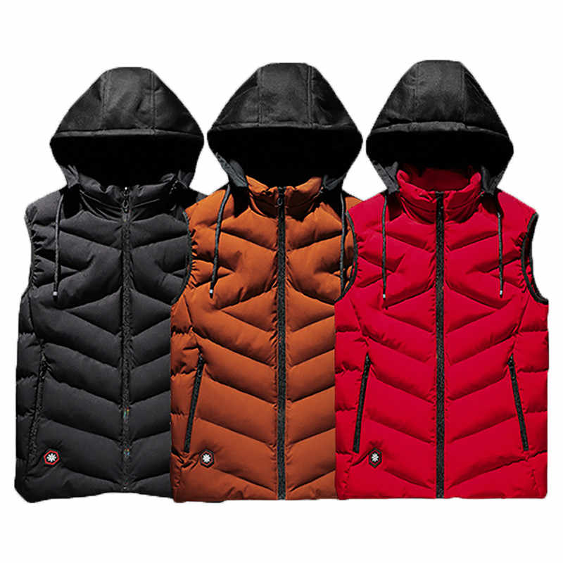 ผู้ชายใหม่ PLUS ขนาด 6XL 7XL 8XL สบายๆฤดูหนาวเสื้อแจ็คเก็ต Hooded หนา WARM Parka แจ็คเก็ตเสื้อกั๊กผู้ชาย