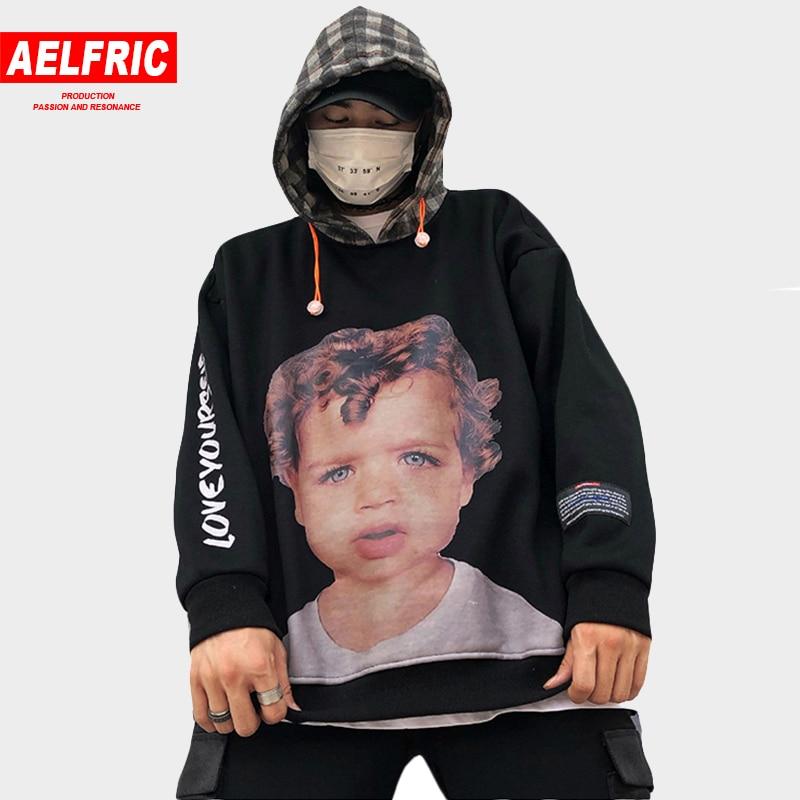 AELFRIC Pullover Streetwear Men Women 3d Funny Child Print Hoodies Sweatshirts Winter Thick Hoodie Skateboard Sportswear KJ193