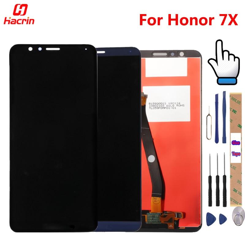 Huawei Honor 7X LCD Affichage Écran Tactile Bon Test Digitizer Assemblée Remplacement Écran Pour Huawei Honor7X BND-AL10 BND-L21/L22