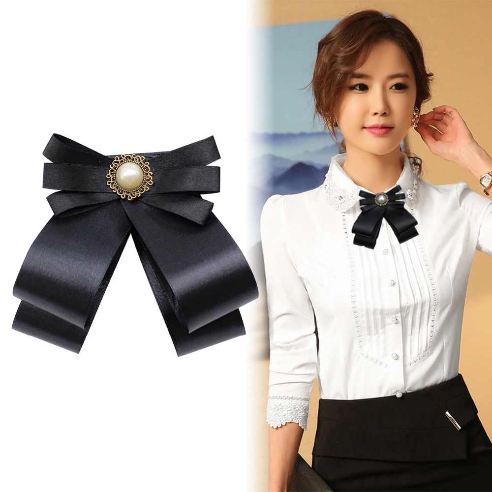 2019 vintage Brooches For Broche Hot retro Bowknot Brooch And Shirt Bow Tie College Wind Collar Needle Ribbons Fabric Corsage