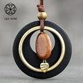 Длинное ожерелье, Модная бижутерия, деревянная цепь, массивные подвески в винтажном богемном стиле, подвеска для лучших друзей, ювелирные и...