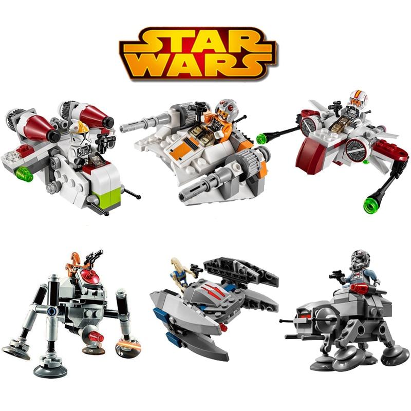 Bela 6pcs lot Stars Wars MICROFIGHTERS Republic Gunship ARC 170 Starfighter Building Blocks Model Toys LegoeINGlys